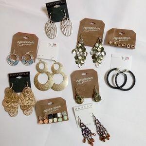 Fashion Earrings Bundle 10 Pair Stud Hoop Drop BN8